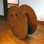"""Rollout, 1990, steel, 64"""" tall"""